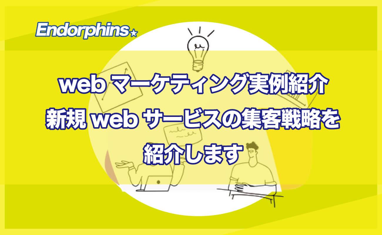 webマーケティング実例紹介、新規webサービスの集客戦略を紹介します