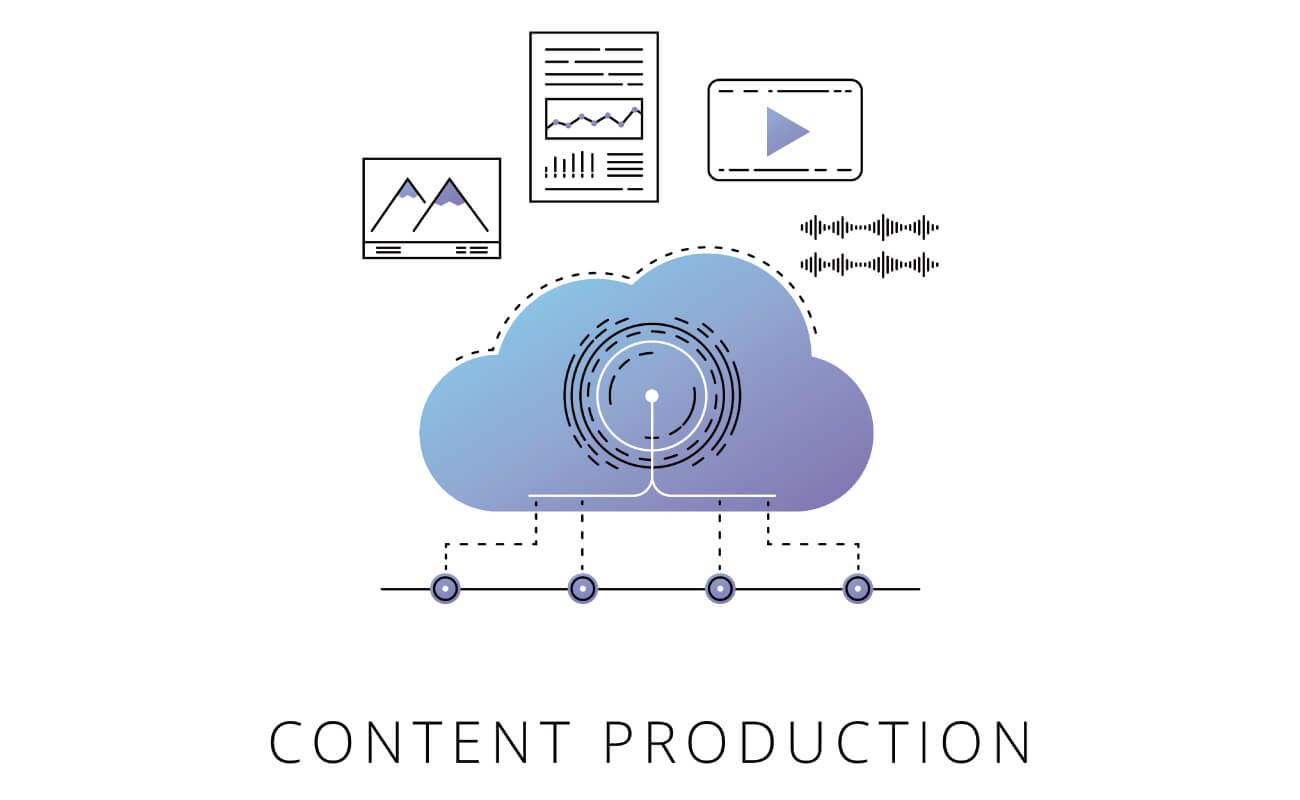 コンテンツプロダクションに関するイラスト