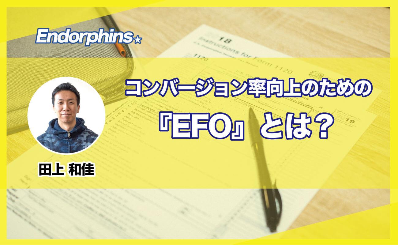 コンバージョン率向上のための『EFO』とは?サムネイル